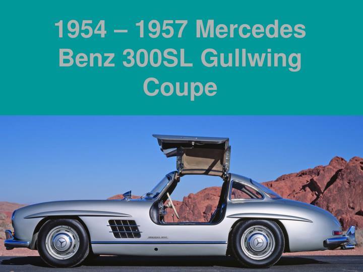 1954 – 1957 Mercedes Benz 300SL Gullwing Coupe