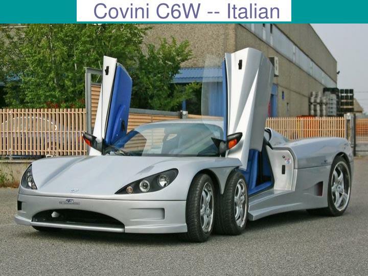 Covini C6W -- Italian