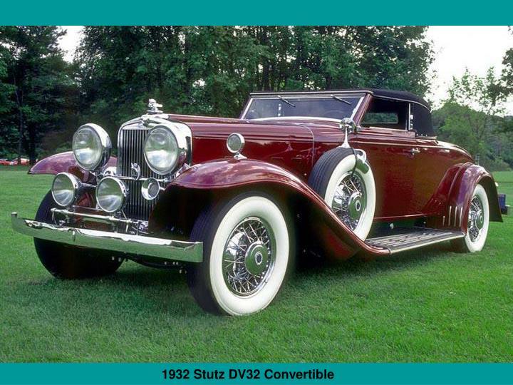 1932 Stutz DV32 Convertible