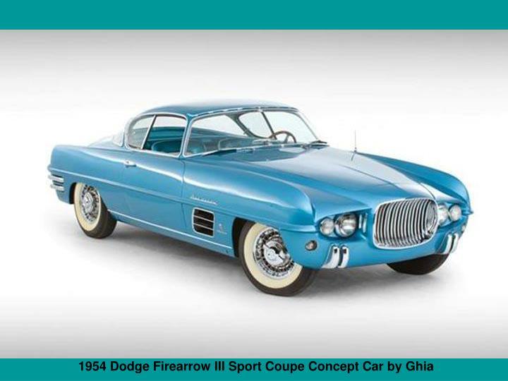 1954 Dodge Firearrow III Sport Coupe Concept Car by Ghia