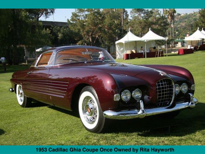 1953 Cadillac Ghia Coupe Once Owned by Rita Hayworth