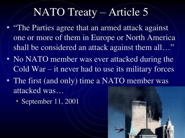 NATO Treaty – Article 5