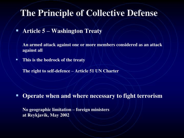 The Principle of Collective Defense