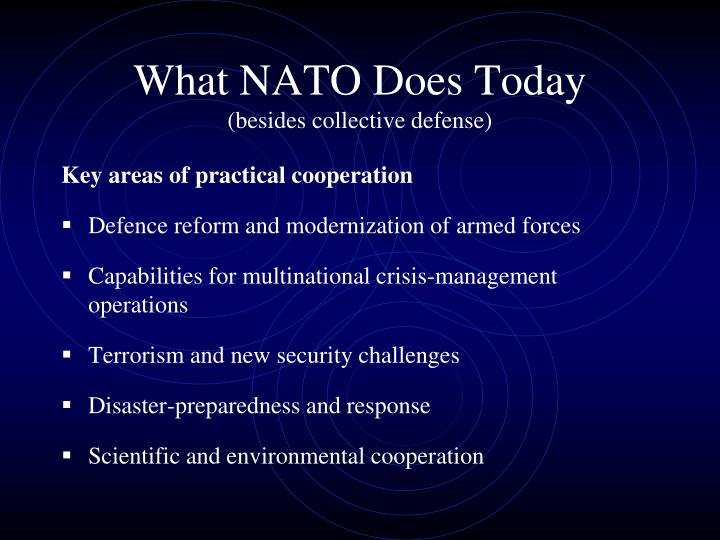 What NATO Does Today