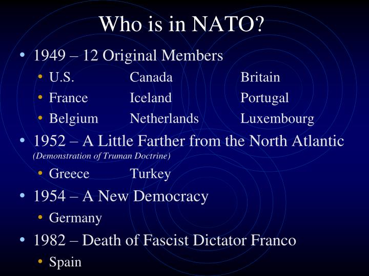 Who is in NATO?
