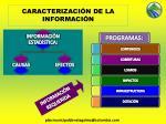 caracterizaci n de la informaci n