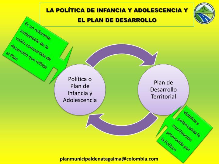 LA POLÍTICA DE INFANCIA Y ADOLESCENCIA Y EL PLAN DE DESARROLLO