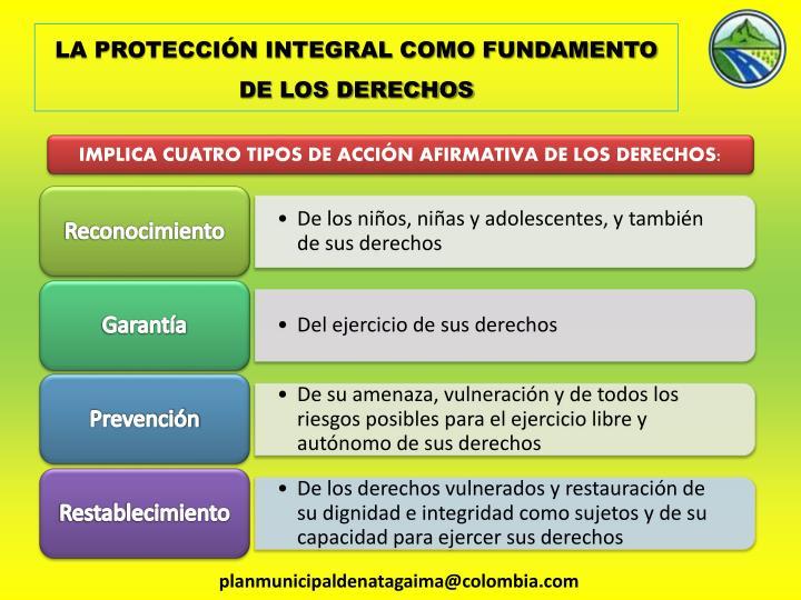 LA PROTECCIÓN INTEGRAL COMO FUNDAMENTO DE LOS DERECHOS