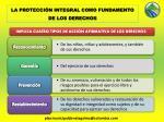 la protecci n integral como fundamento de los derechos