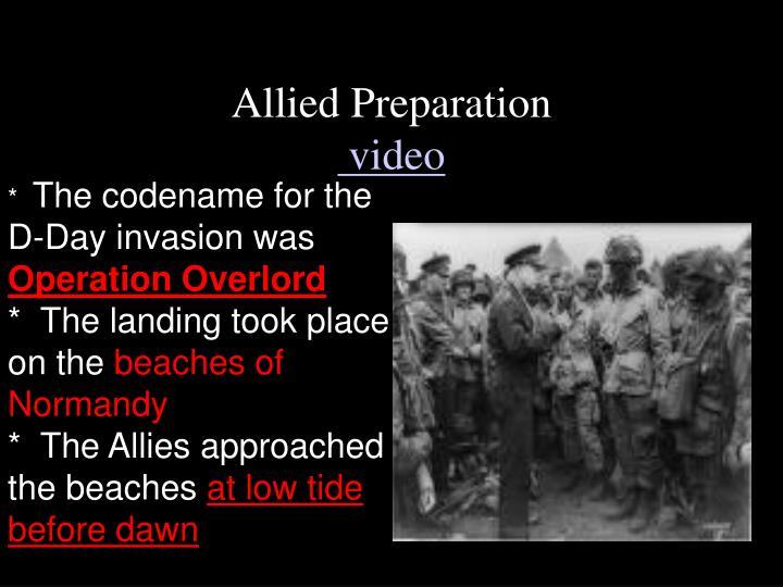 Allied Preparation