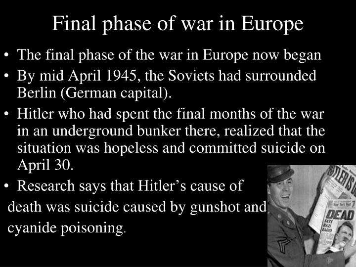 Final phase of war in Europe