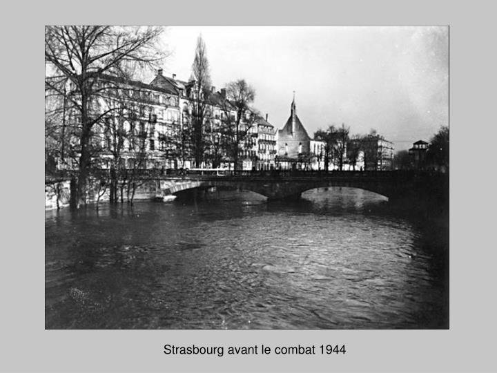Strasbourg avant le combat 1944