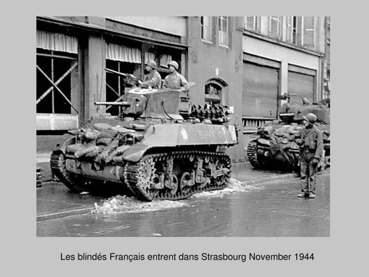 Les blindés Français entrent dans Strasbourg November 1944