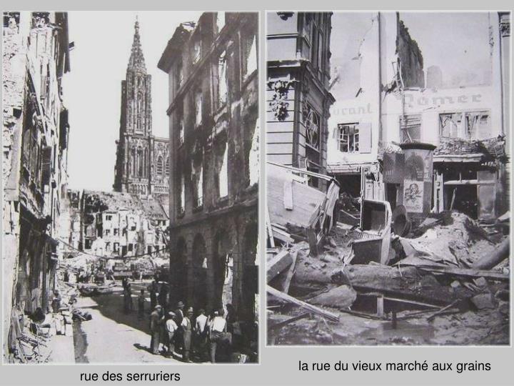 la rue du vieux marché aux grains
