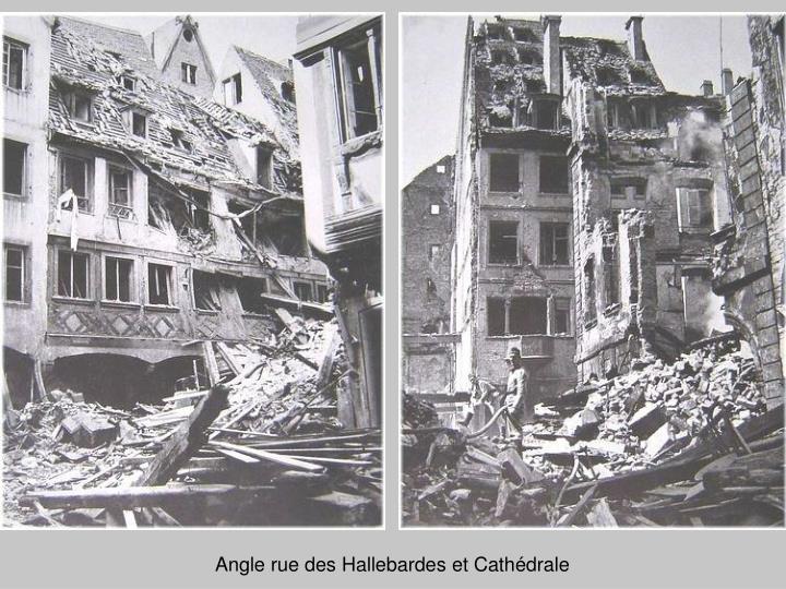 Angle rue des Hallebardes et Cathédrale