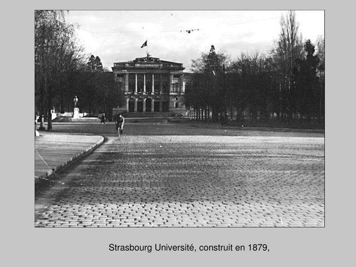 Strasbourg Université, construit en 1879,