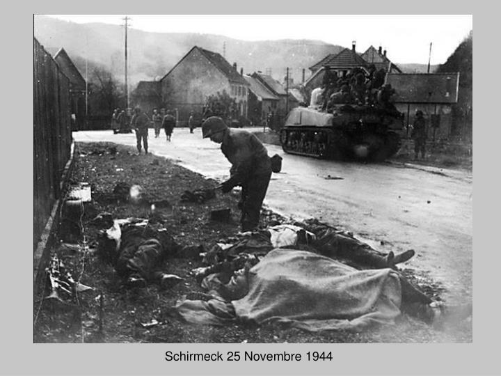 Schirmeck 25 Novembre 1944