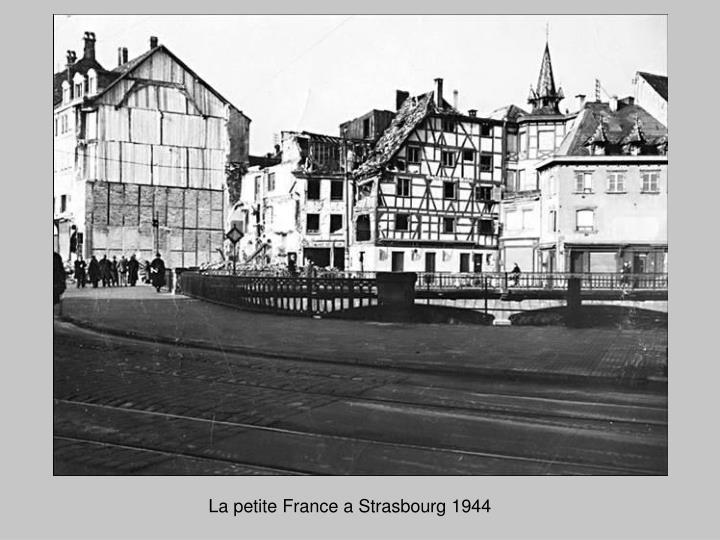 La petite France a Strasbourg 1944