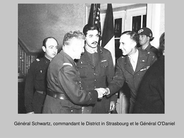 Général Schwartz, commandant le District in Strasbourg et le Général O'Daniel