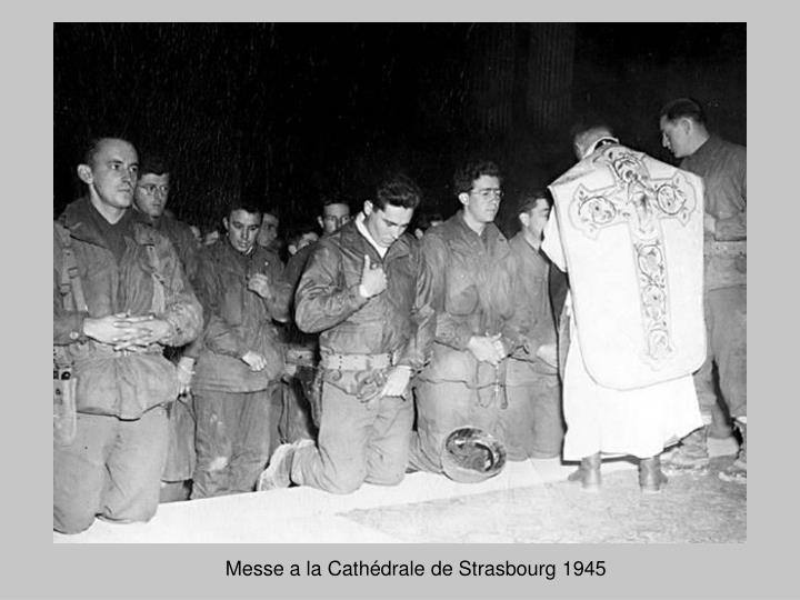 Messe a la Cathédrale de Strasbourg 1945