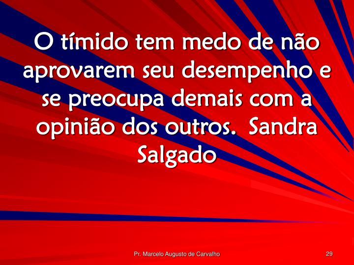 O tímido tem medo de não aprovarem seu desempenho e se preocupa demais com a opinião dos outros.Sandra Salgado