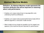 abstract machine models