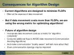 consequences for algorithm design