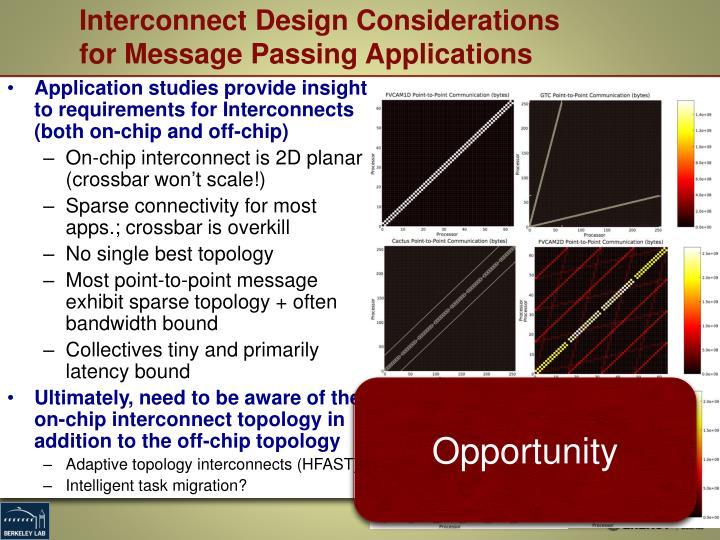 Interconnect Design Considerations