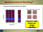 multidimensional blocking