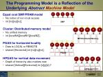 the programming model is a reflection of the underlying abstract machine model