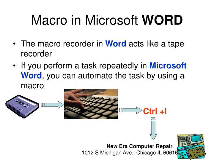 MacroinMicrosoft