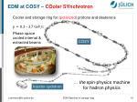 edm at cosy cooler synchrotron