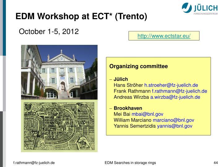 EDM Workshop