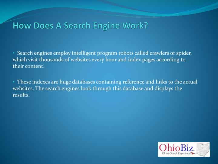 How Does A Search Engine Work?