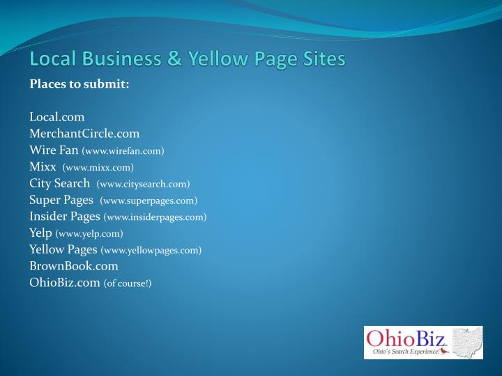 Local Business & Yellow Page Sites