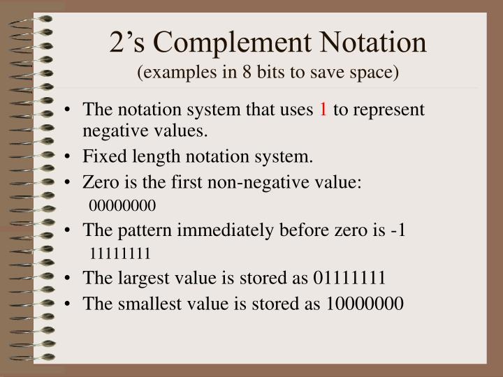 2's Complement Notation