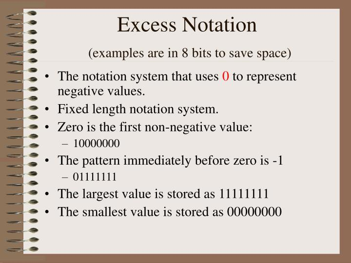 Excess Notation