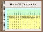 the ascii character set