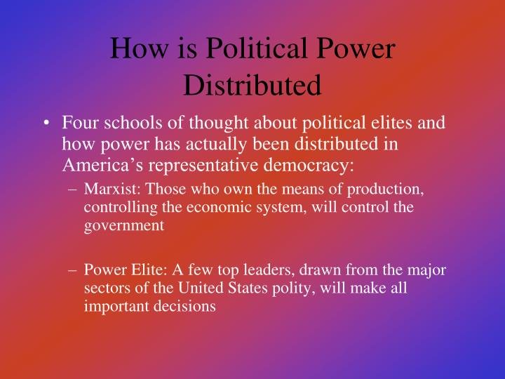 How is Political Power Distributed
