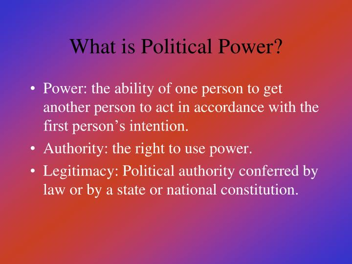 What is political power
