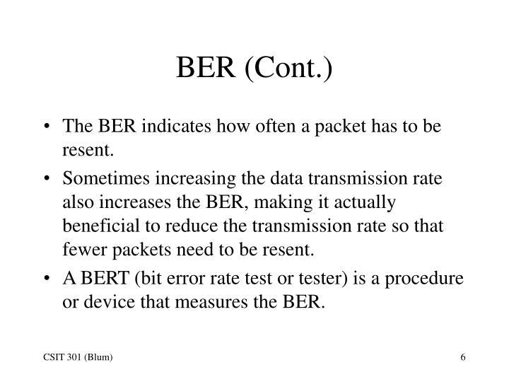 BER (Cont.)