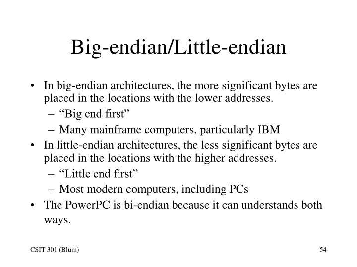 Big-endian/Little-endian