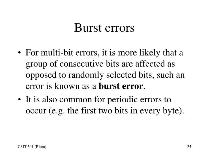 Burst errors