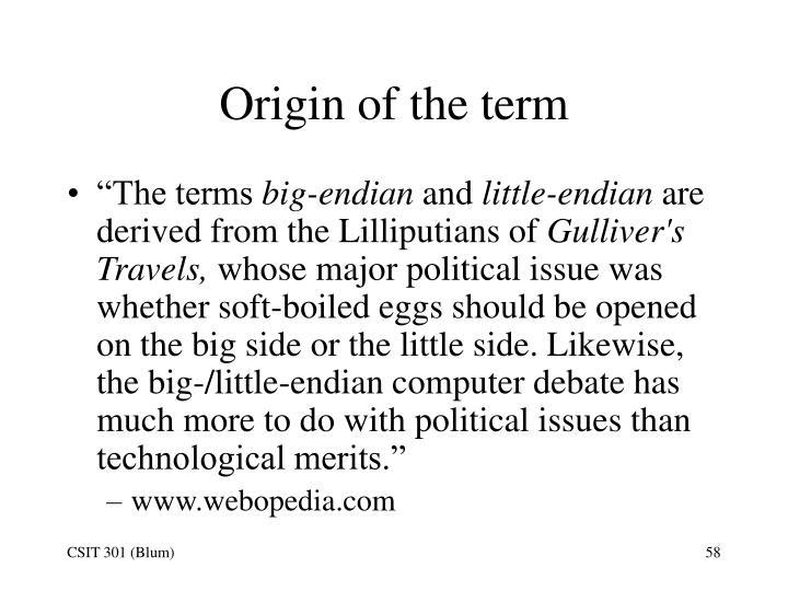 Origin of the term