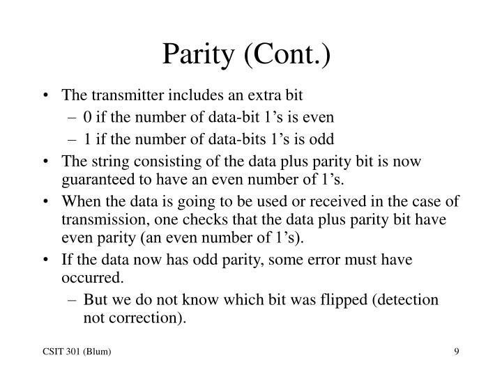 Parity (Cont.)