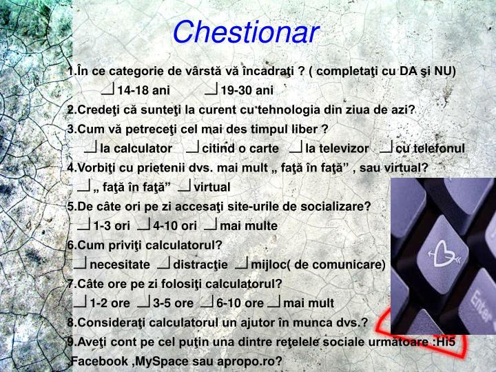 Chestionar