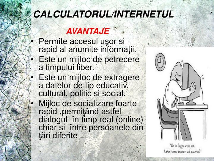 CALCULATORUL/INTERNETUL