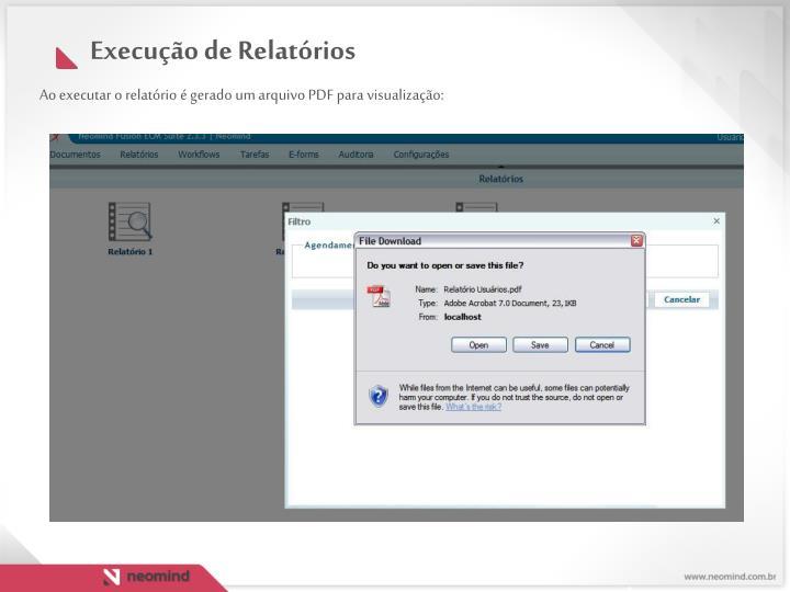 Ao executar o relatório é gerado um arquivo PDF para visualização: