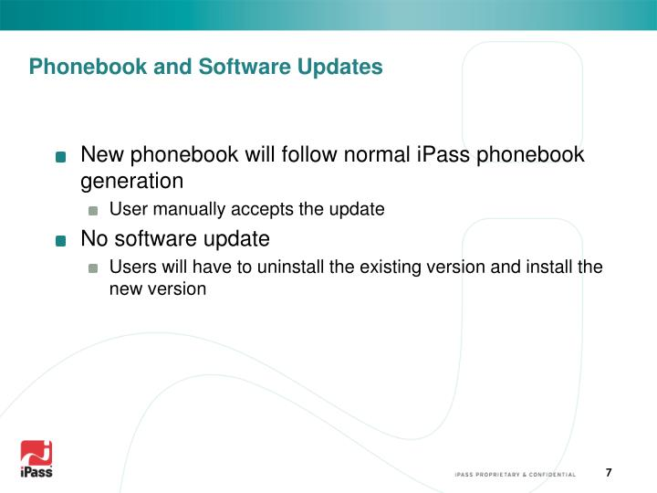 Phonebook and Software Updates