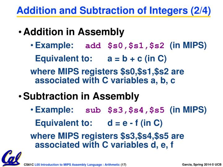 Addition and Subtraction of Integers (2/4)